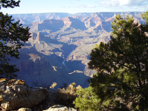 Grand Canyon and river from Pima Pt.
