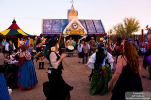 End of Day of Renaissance Festival